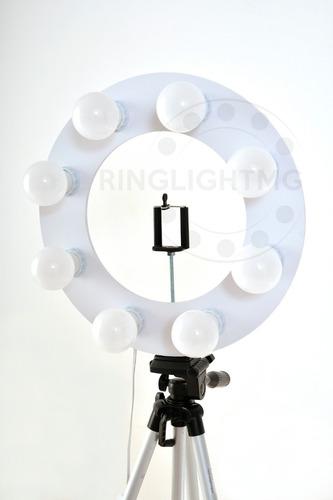 ring light led 8 - 2 em 1 + tripe 1,30mts + sup cel + brinde