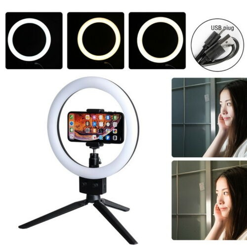 ring light led estudio photo video dimmable tripod stand