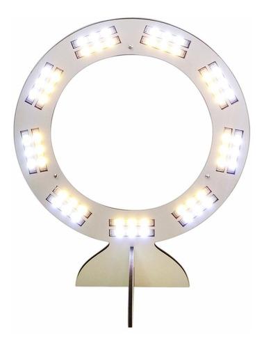 ring light led selfie maquiagem tripé p/ celular blog branco