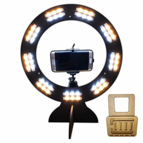 ring light led selfie maquiagem tripé para celular blogueira