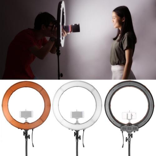 ring light neewer 18 polegadas led rl-18 + tripé + bolsa