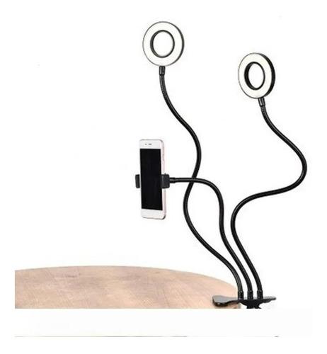 ring light selfie duplo greika com suporte de celular live