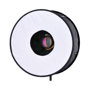 ringbox softbox para flash efecto ringflash