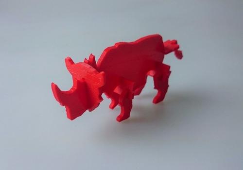 rinoceronte armar. juguete didáctico imprimir 3d