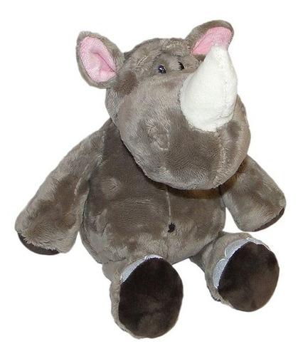 rinoceronte de pelúcia 33cm -safari