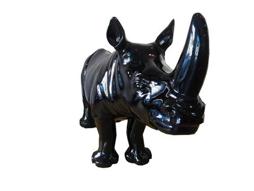 rinoceronte en acrílico  decorativo umberto capozzi