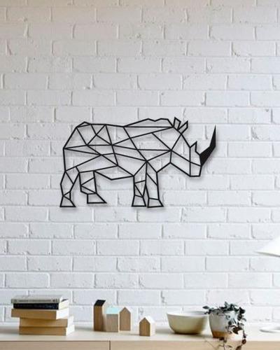 rinoceronte figura geométrico decoración 59x37cm