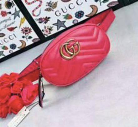 89a98fa13e1 Riñonera Gucci Matelasse Roja Cuero Importada -   13.500