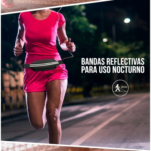 riñonera running deportes expandible porta celular tarjetas