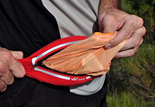 riñonera running expandible weis silm ultra delgada elastica
