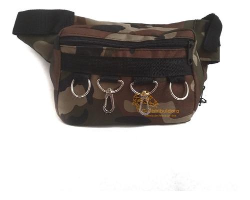riñonera tactica  ideal caza, pesca, outdoor camuflada negra