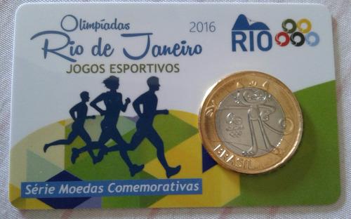 rio 2016 - pin card das moedas comemorativas