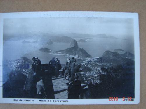 rio de janeiro, brasil vista corcovado, 1931. antigua postal