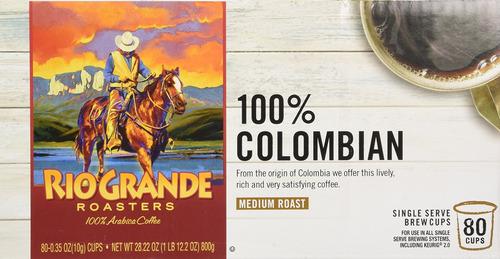 río grande de tostadores de café de colombia solo sirven k-c