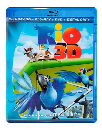 rio pelicula blu-ray 3d + blu-ray + dvd