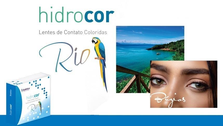 Lente De Contato Hidrocor Rio   Sem Borda Anual + Mochila - R  139 ... 7cddd452d9