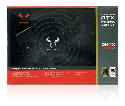 riotoro fuente de poder onyx 650w 80plus bronze semi modular