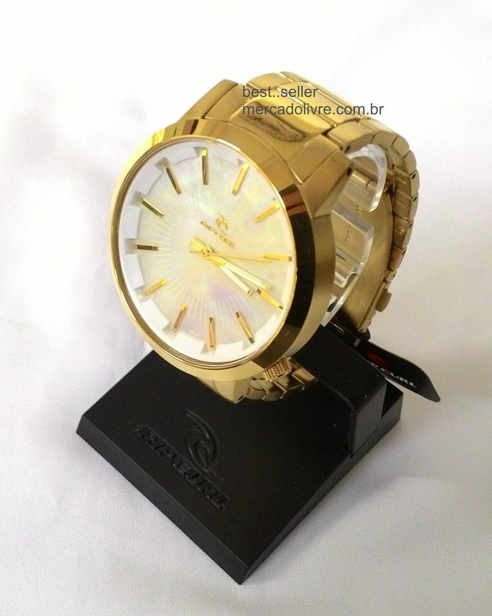 86600aac59b Relógio Rip Curl Detroit Gold A2561 Dourado Branco - R  959
