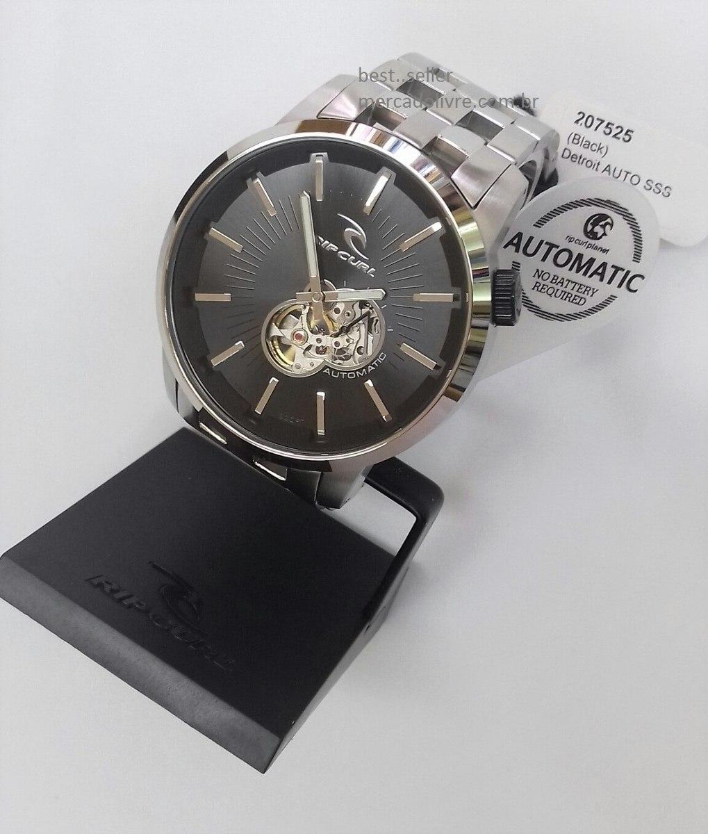 f0de11c6452 Relógio Rip Curl Detroit Automatic Black Preto - R  2.399