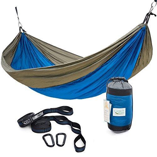 rip resistente solo paracaídas camping hamaca con 2 multi l