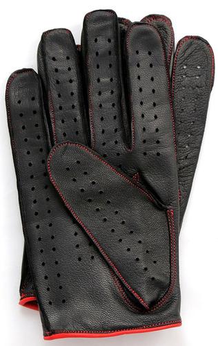 riparo cuero genuino cosido reverso guantes de conducción ll