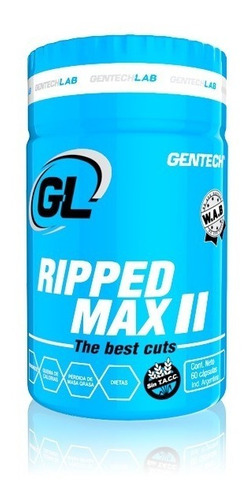 ripped max quemador grasas gentech 60 tabletas fat burner