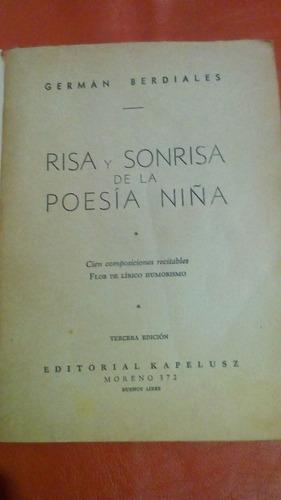 risa y sonrisa de la poesia niña/german berdiales/1952