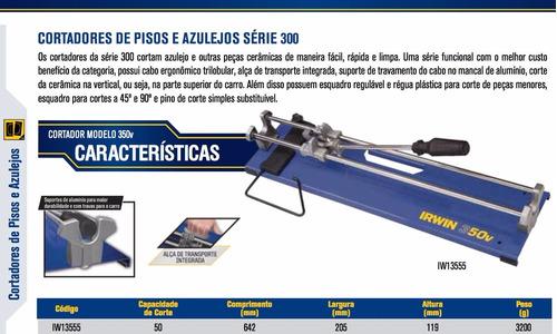 riscadeira/ cortador de pisos 350v 50cm irwin frete gratis