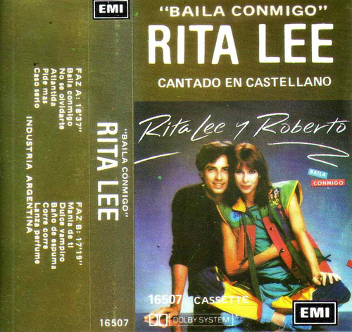 rita lee & roberto cantado en castellano cassette pvl