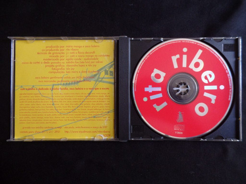 rita ribeiro - 1997 - cd autografado