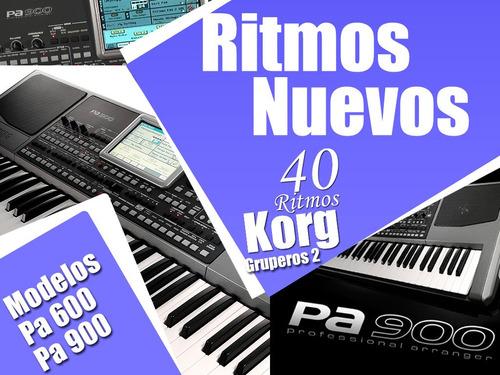 ritmos gruperos korg pa600, pa800 y pa900 vol. 2