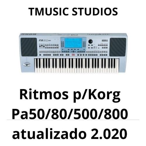 ritmos  novos p/ teclados korg pa 50/60/80/500/800