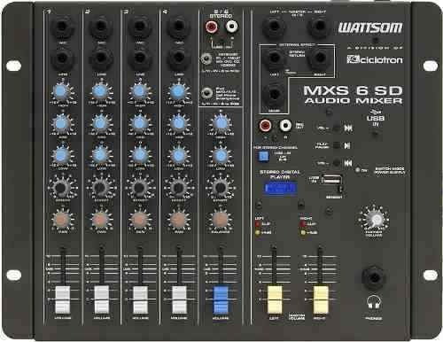 ritmus ! ciclotron mxs6 sd : mesa de som 6 canais : usb