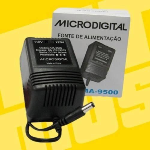 ritmus : microdigital ma9500 : fonte bivolt de pedaleira 9v