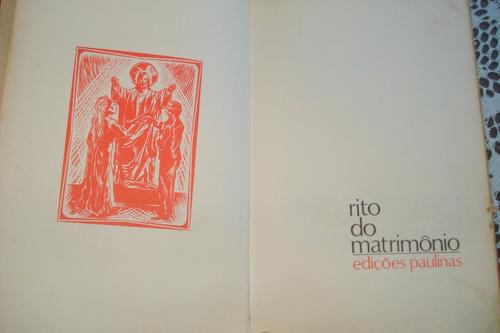 rito do matrimônio- edições paulinas
