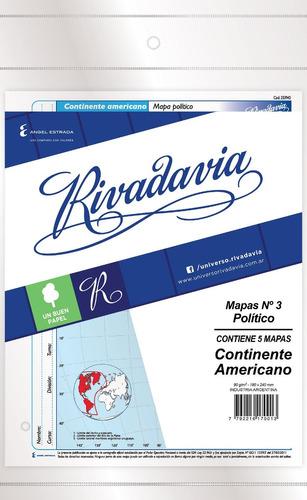 rivadavia 8865 mapas n°3 político américa x5
