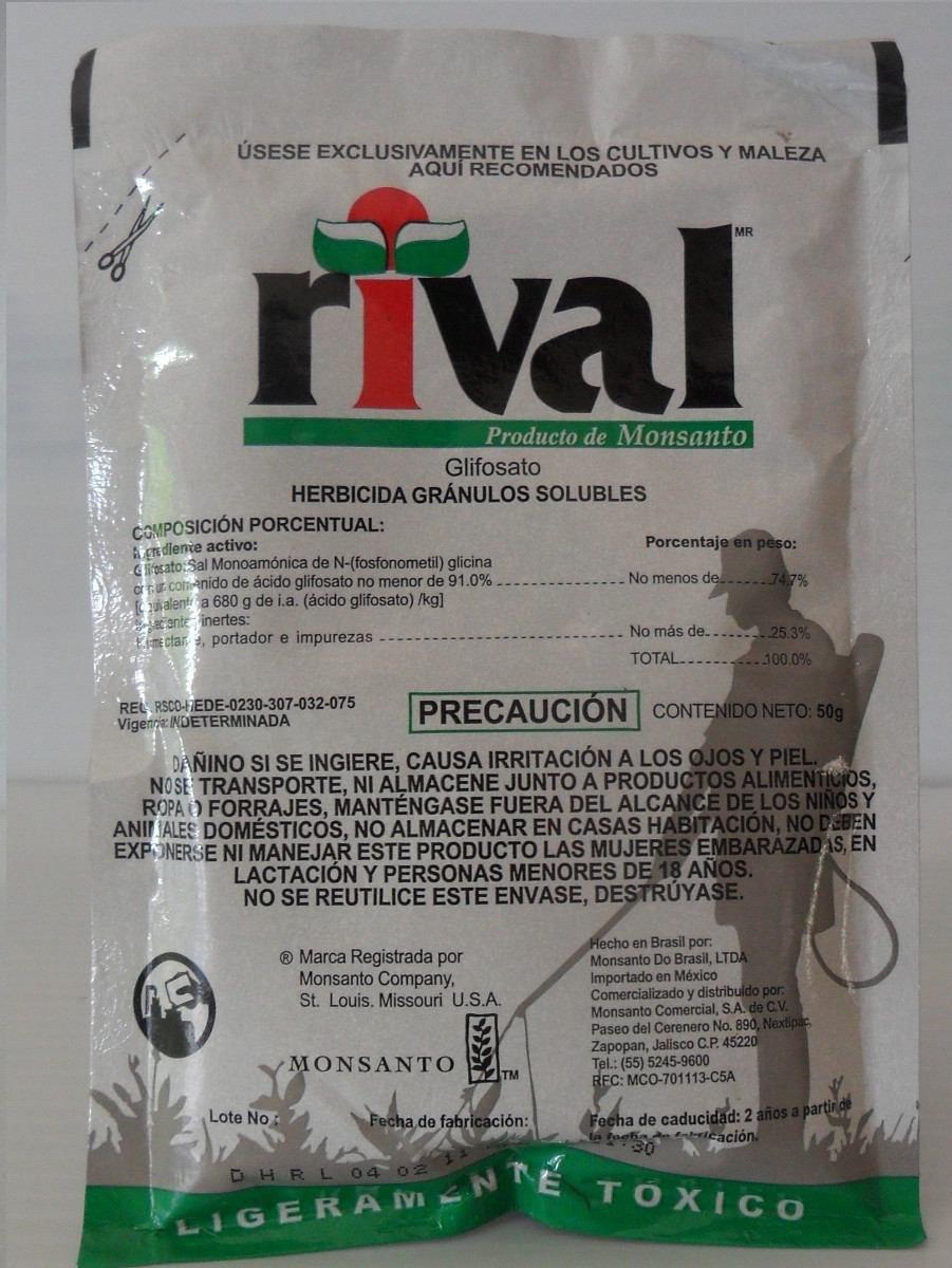 rival herbicida en polvo para control de maleza en jard n
