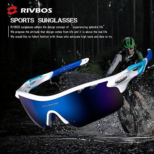 9b612107e70 Rivbos 801 Polarized Sports Sunglasses Sun Glasses With 5 In ...