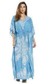 fd3a3daad Riviera Vestido Caftan Para Mujeres Playa Parque Color Turqu