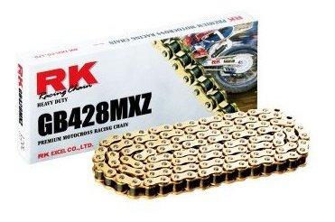 rk racing chain cadena dorada para moto con enlace de conexi
