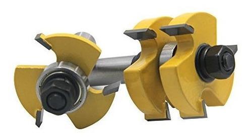 rkurck cortador de fresado de madera 2 piezas de herramienta