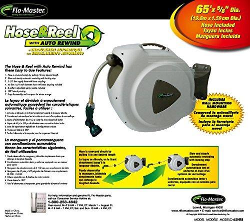 rl flo-master 65hr 8 manguera retráctil carrete con boquilla