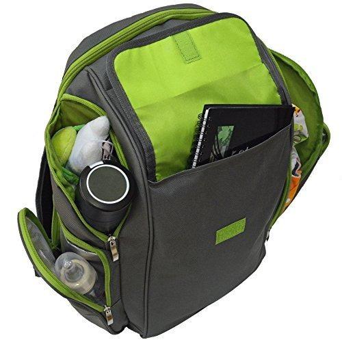 rlb x-large multiusos del viaje del pañal mochila con cambio