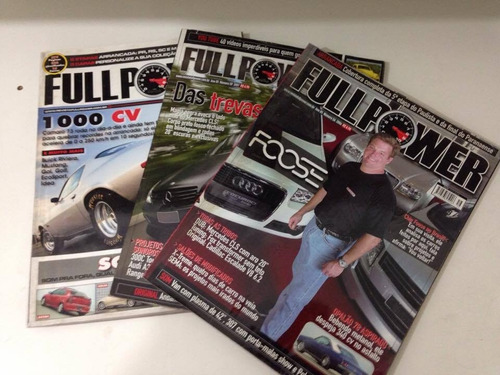 r/m - 3 revistas full power - foose, das trevas e 1000 cv