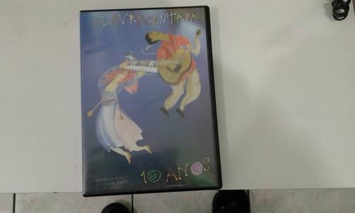 r/m - dvd - palavra cantada - 10 anos sandra peres e paulo t