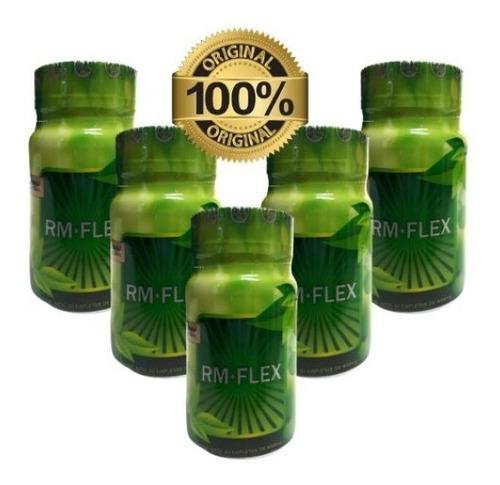 rm + flex 30 capletas con 850mg (5 frascos) envio full
