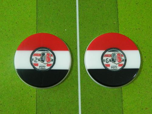 (rm) lote 534 - 2 botões 3 faixas
