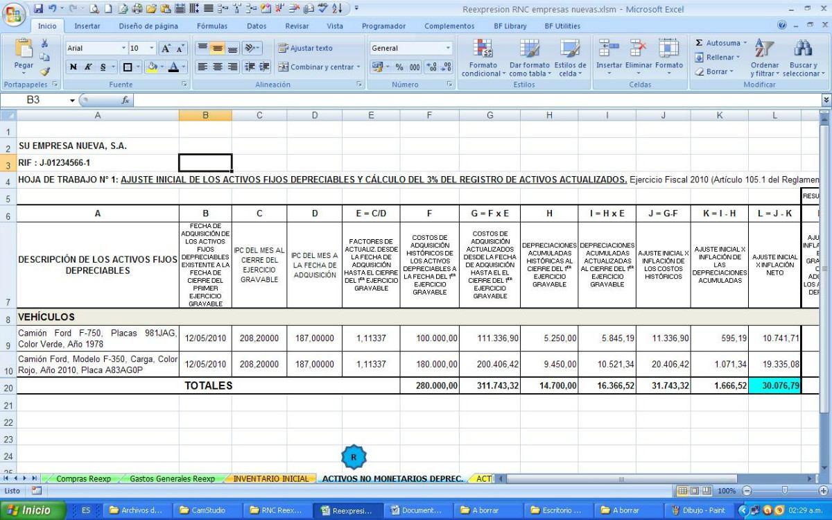 Bonito Plantilla De La Hoja De Trabajo De Los Estados Financieros ...