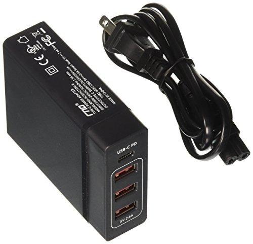 rnd 72w smart travel charger con un puerto typec usbc y tres