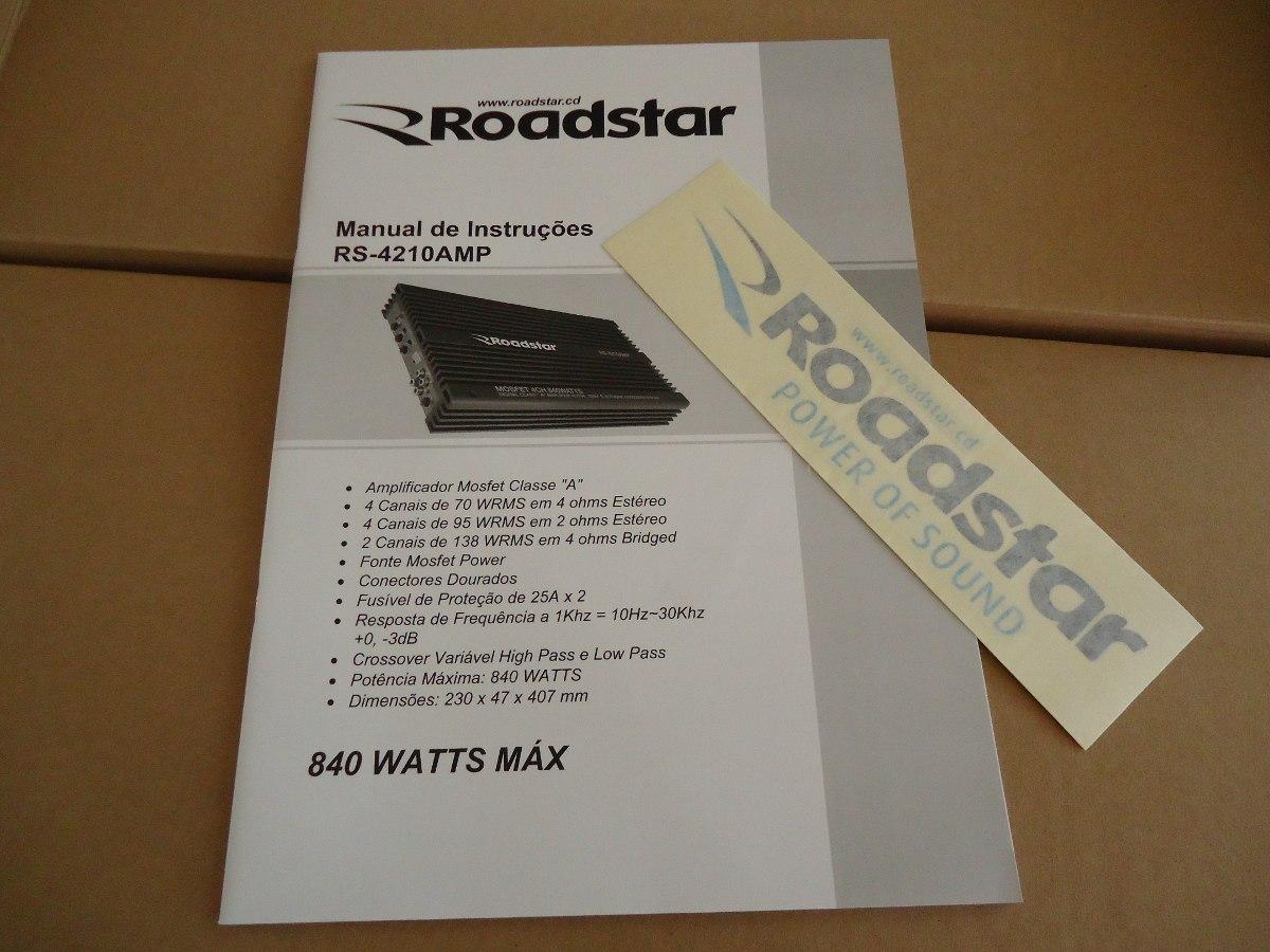 roadstar 840 w modulo amplificador som carro r 380 00 em mercado rh produto mercadolivre com br manual instalação modulo roadstar 840 manual da roadstar 840